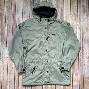 REI rain jacket with hood and hood bill